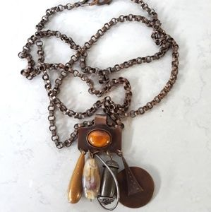 Kate Hines Antique Long Chain Necklace